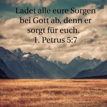 1. Petrus 5,7