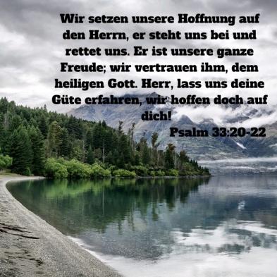 Psalm 33,20-22